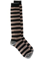 Eleventy Striped Socks Blue