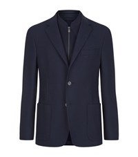 Corneliani Extra Fine Basketweave Jacket Male Dark Grey