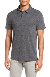 Vince Men's Textured Cotton Polo Heather Grey