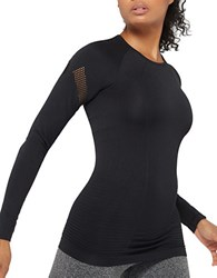 Mpg Unify Mesh Paneled Seamless Top Black