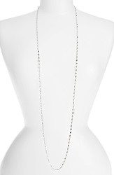 Nordstrom Square Link Long Necklace Silver