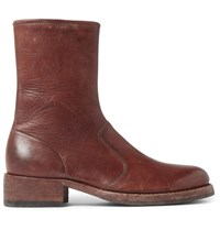 Maison Martin Margiela Leather Chelsea Boots Brown