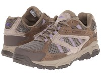 Montrail Sierravada Leather Outdry Pebble Paisley Purple Women's Shoes Beige