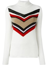 Giambattista Valli Striped Jumper White