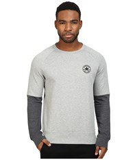 Converse Color Block Crew Vintage Grey Heather Men's Clothing Gray