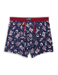 Original Penguin Space Print Boxers Medival Blue