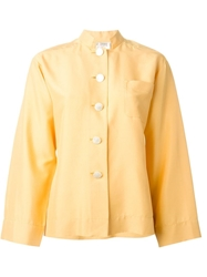 Yves Saint Laurent Vintage Boxy Buttoned Shirt Yellow And Orange