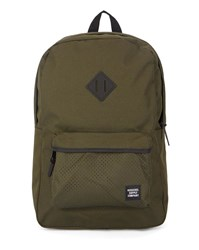 Herschel Black Heritage Mesh Pocket Backpack 21.5 L
