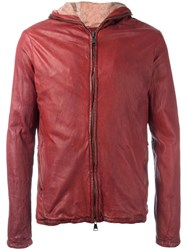 Giorgio Brato Zipped Hooded Jacket Red
