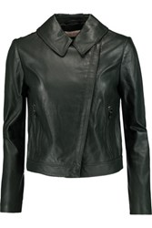 Tory Burch Leather Jacket Emerald