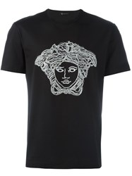 Versace Threaded Sequin 'Medusa Head' T Shirt Black