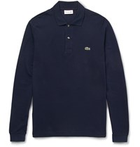 Lacoste Cotton Pique Polo Shirt Navy