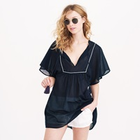 J.Crew Metallic Piped Tassel Beach Tunic