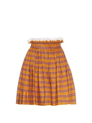 N 21 Check Gathered Cotton Skirt Yellow Multi