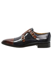 Melvin And Hamilton Jeff Slipons Tan Navy Brown