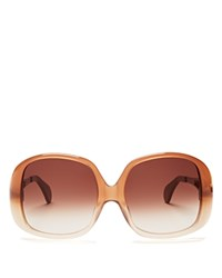 Wildfox Couture Liz Oversized Square Sunglasses 59Mm Desert Brown Brown Gradient