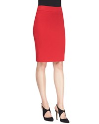 Armani Collezioni Classic Crepe Pencil Skirt Cordoba Red