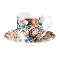 Roberto Cavalli Golden Flowers Coffee Cup And Saucer