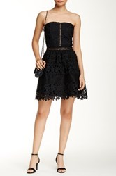 Romeo And Juliet Couture Strapless Fit And Flare Lace Dress Black