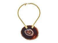Kenneth Jay Lane Agate Short Chain Necklace Black Necklace
