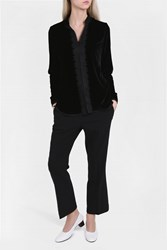 For Restless Sleepers Tifeo Velvet Jacket Black
