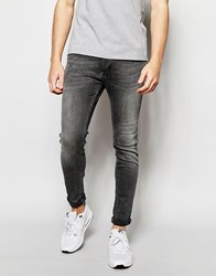 Jack And Jones Jack And Jones Super Stretch Skinny Fit Jeans Grey