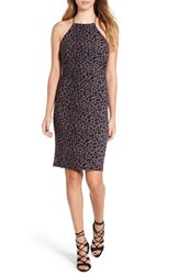 Leith Women's Ruched Leopard Print Dress