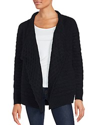 Zadig And Voltaire Drape Front Long Sleeve Sweater Black