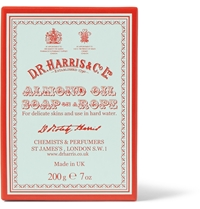 D R Harris Almond Soap On A Rope 200G White