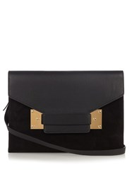 Sophie Hulme Milner Envelope Leather Shoulder Bag Black
