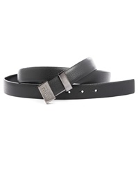 Armani Collezioni Reversible Black Full Grain And Smooth Leather Belt