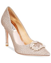 Badgley Mischka Nichole Ii Pointed Toe Evening Pumps Women's Shoes Champagne