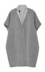 Tibi Collard Cape Light Grey
