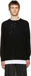 Yang Li Black Broken Sweater