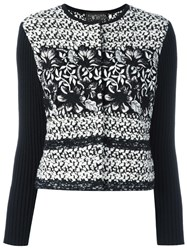 Giambattista Valli Ribbed Sleeve Tweed Jacket Black