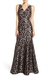 Adrianna Papell Women's Guipure Lace Mermaid Gown
