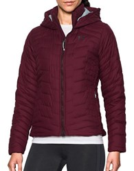 Under Armour Long Sleeve Hooded Reactor Jacket Maroon