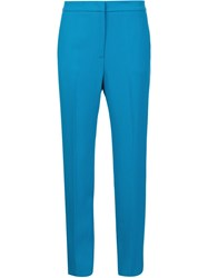 Msgm Cropped Tailored Trousers Blue