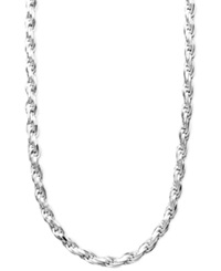 Giani Bernini Diamond Cut Rope Chain Necklace In Sterling Silver