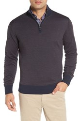 Peter Millar Men's Wool Blend Quarter Zip Sweater