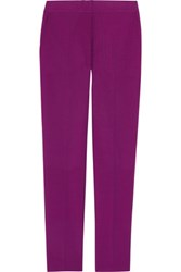 Sophie Hulme Mohair And Wool Blend Straight Leg Pants Magenta