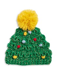Collection 18 Knit Christmas Tree Hat Green