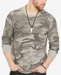 Denim And Supply Ralph Lauren Men's Waffle Knit Thermal Shirt Grey Camo