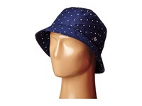 Columbia Adult Bucket Hat Collegiate Navy Polka Dot Bucket Caps Blue