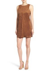Cupcakes And Cashmere Women's 'Felicity' Faux Suede Shift Dress