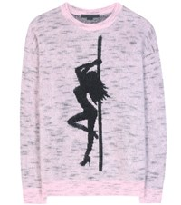 Alexander Wang Oversized Mohair Blend Sweater Pink
