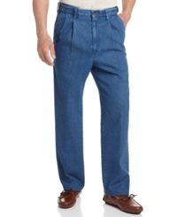Haggar Big And Tall Denim Work To Weekend Pleated Pants