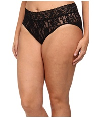 Hanky Panky Plus Size Signature Lace French Brief Black Women's Underwear