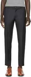 Dolce And Gabbana Navy Wool Trousers