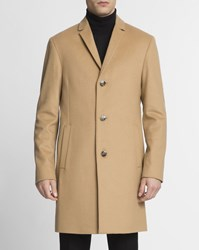 Calvin Klein Camel Wool And Cashmere Coat